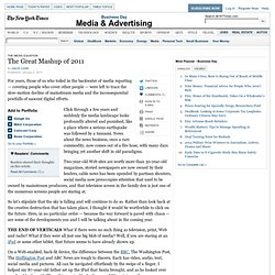 Forecasting the Mashup of 2011 — The Media Equation