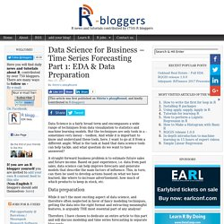 Data Science for Business – Time Series Forecasting Part 1: EDA & Data Preparation