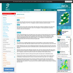 National Forecasts - Met Éireann