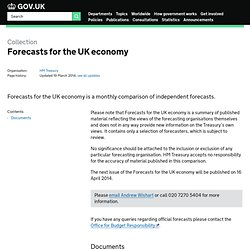 Forecasts for the UK economy