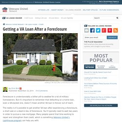 VA Loans & Foreclosure - Determining Remaining Entitlement