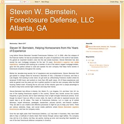 Steven W. Bernstein, Helping Homeowners from His Years of Experience