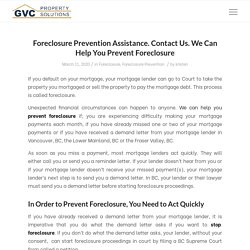 Foreclosure Prevention