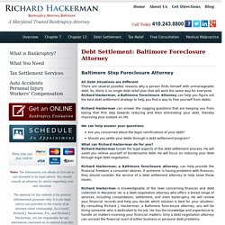 Baltimore Foreclosure Attorney