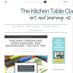 Teaching Foreground, Middleground, and Background- the Easy Way