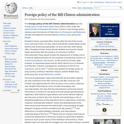 Foreign policy of the Bill Clinton administration