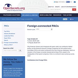 Foreign-connected PACs