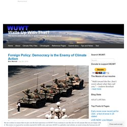Foreign Policy: Democracy is the Enemy of Climate Action