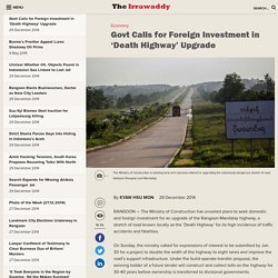 Govt Calls for Foreign Investment in 'Death Highway' Upgrade