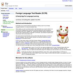 fltr - Foreign Language Text Reader