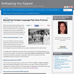 The foreign language flip class formula