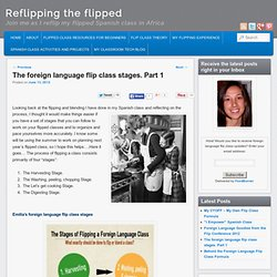 The foreign language flip class stages. Part 1
