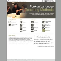 Foreign Language Teaching Methods