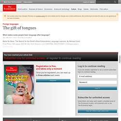 Foreign languages: The gift of tongues | The Economist