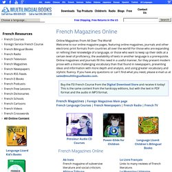 Foreign Magazines Online: French Online Magazines