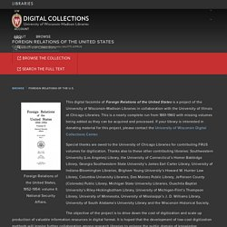 Foreign Relations of the U.S. – UW Digital Collections