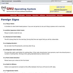 Foreign Signs