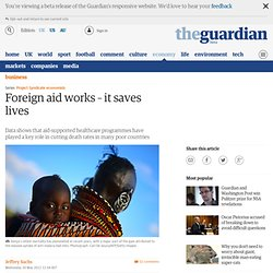 Foreign aid works – it saves lives