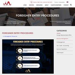 Foreigner Experts Entry Procedures in Vietnam