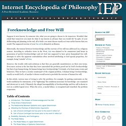 Foreknowledge and Free Will