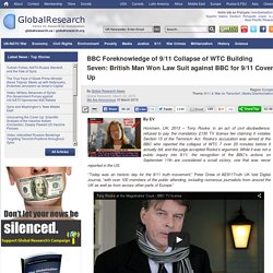 BBC Foreknowledge of 9/11 Collapse of WTC Building Seven: British Man Won Law Suit against BBC for 9/11 Cover Up