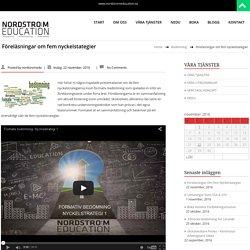 Föreläsningar om fem nyckelstategier – NORDSTRÖM EDUCATION