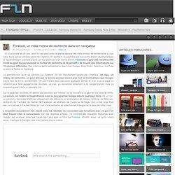 Forelook, un méta moteur de recherche dans ton navigateur