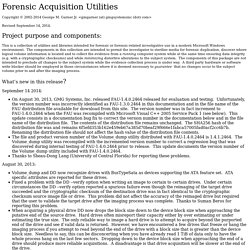 Forensic Acquisition Utilities