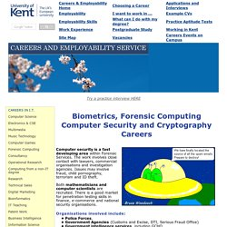 Forensic Computing and Computer Security Careers