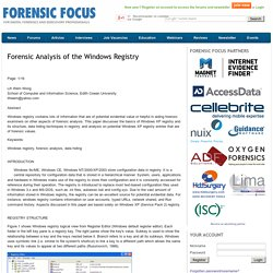 Forensic Analysis of the Windows Registry