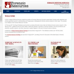 Forensic Resources