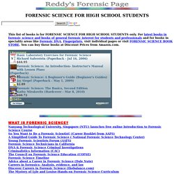 Reddy's Forensic Page: forensic science for high school students