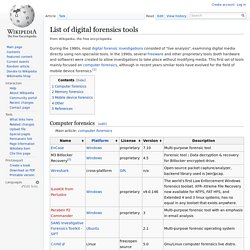 List of digital forensics tools