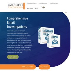 Email Forensics Software for Massive Email Investigations - Paraben