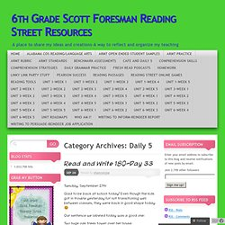 Daily 5 « 6th Grade Scott Foresman Reading Street Resources