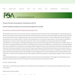 Forest School Association Conference 2013
