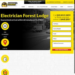 Forest Lodge Electrician – Emergency & Level 2 Electrician - Gordon Powers