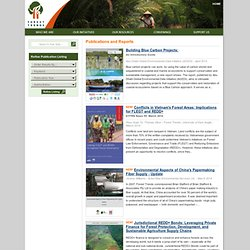 Forest Trends - Publications and Reports
