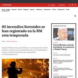 85 incendios forestales se han registrado en la RM esta temporada - LA TERCERA