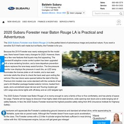 2020 Subaru Forester near Baton Rouge LA is Practical and Adventurous