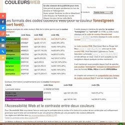 forestgreen (vert forêt) / #228B22 - code couleur web - format couleur Hexa, RGB, HSL ou par nom
