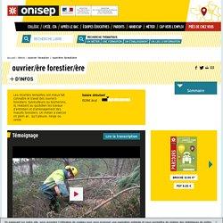 ouvrier forestier / ouvrière forestière