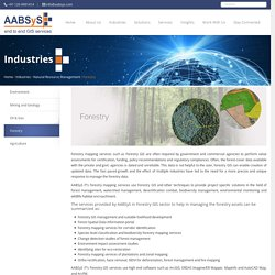 Forestry Mapping Services at AABSyS