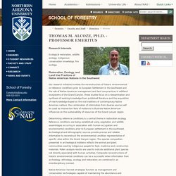 Alcoze - School of Forestry - Northern Arizona University