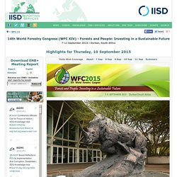 Innovation in Investments Forum, 14th World Forestry Congress