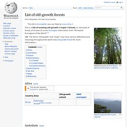 List of old growth forests