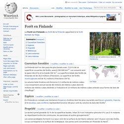 Forêt en Finlande
