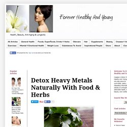 Forever Healthy and Young: Detox Heavy Metals Naturally With Food & Herbs
