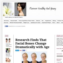 Forever Healthy and Young: Research Finds That Facial Bones Change Dramatically with Age