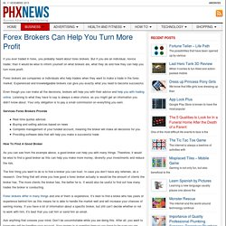 How Can Forex Brokers Help You